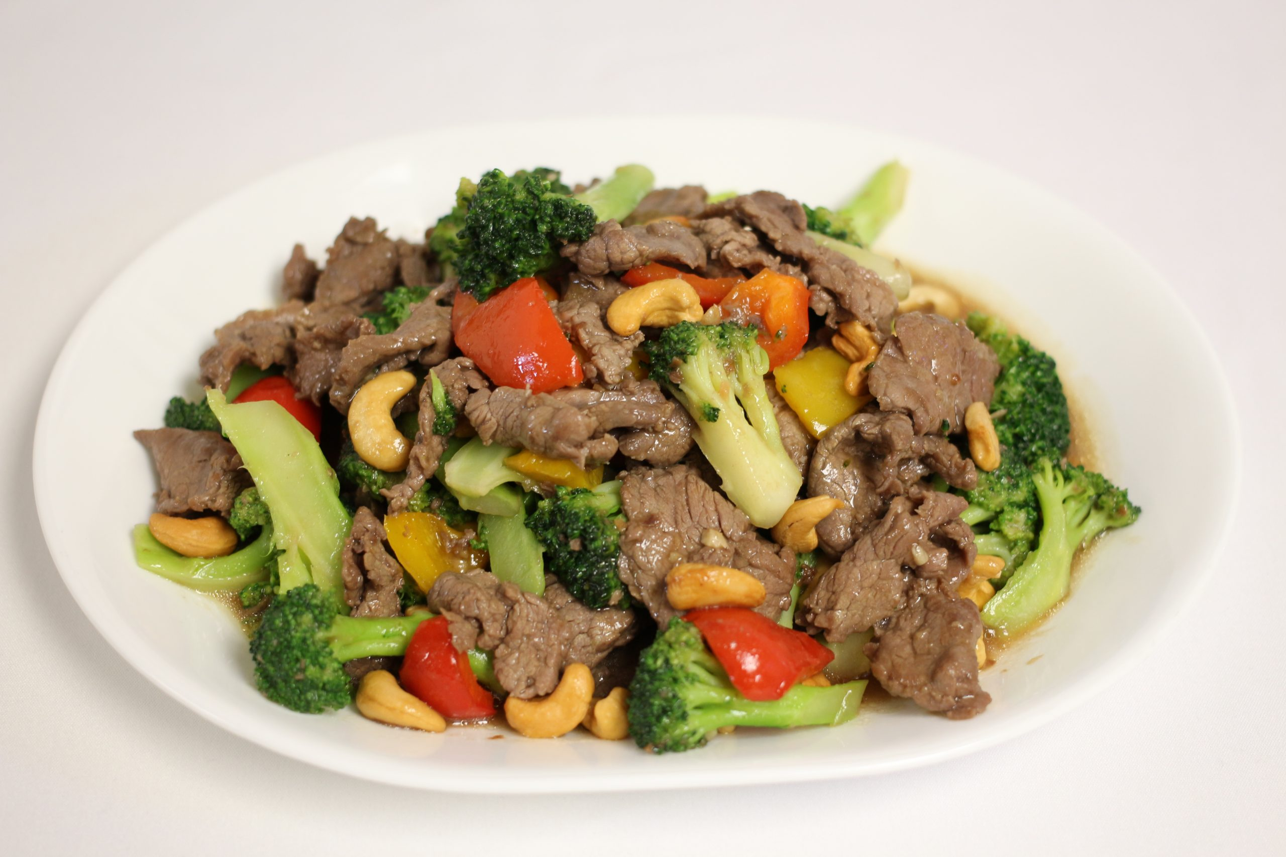 Beef broccoli red pepper