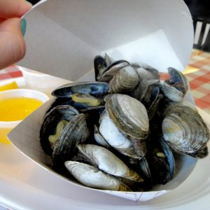 Steamed Clams Butter and Both