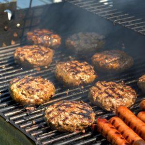 Grilled Hamburger & Hot Dog