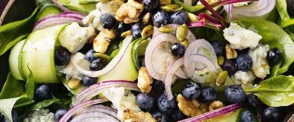 Blueberry-Cucumber-Gorgonzola-Salad