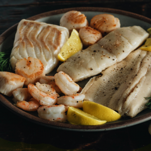Combo with Clams or Scallop or Fisherman's Platter