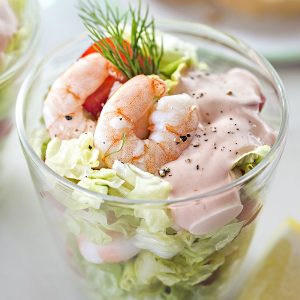 Salad with Shrimp Cocktail